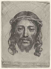 mellan, face, of, christ